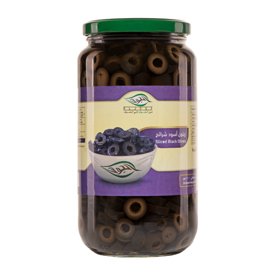 Sliced Black Olive Pickel - 500 G